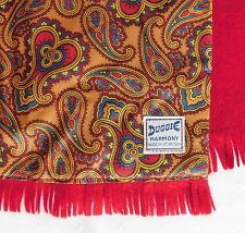 Duggie Harmony vintage British scarf gold Paisley pattern 1970s