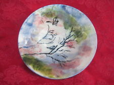 Vintage Hand Made-Painted Pottery Bowl Hand Signed