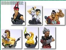 Capcom Street Fighter Heroes Bust Statue Figure 6 pcs Ryu Vega Akuma mix colour