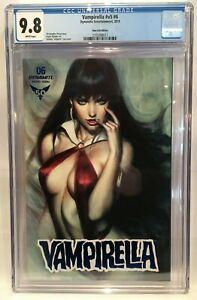 Vampirella (Vol 5) #6 Blue Foil Variant CGC 9.8 Grade Dynamite Comics
