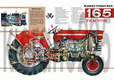 Vintage 165 Tractor Massey Ferguson 135 CARTEL FOLLETO Prospecto A3 Muy Raro