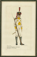 Military Uniform Studies - Signed & Framed Late 19th Century Watercolour