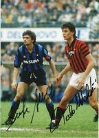 Alessandro Altobelli e Paolo Maldini Autografo Coa Sport Mondiali 1982 Signed