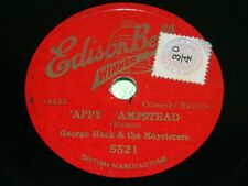 """George BUCK: """"appy"""" ampstead/LET'S CHANTENT tous comme les oiseaux chanter -1932 78 tr/min"""