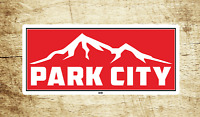 "Park City Utah Skiing Vinyl Sticker Decal  3.75"" X 1.75"" Ski Snowboarding"