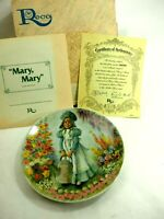 """""""Mary Mary"""" Mother Goose John McClelland  Reco Porcelain Plate 1979 Mint"""