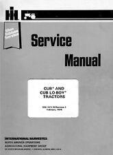 FARMALL Cub & Cub Lo-Boy (LoBoy) Service Manual GSS-1411 International Harvester
