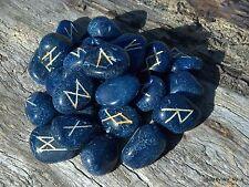 Blue Onyx Elder Futhark Rune Set