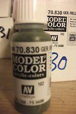 modello Hobby Pittura 17ml BOTTIGLIA val830 AV Vallejo Color - Tedesco Fieldgrey