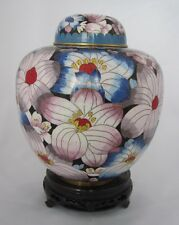 "7 1/2"" Chinese Beijing Cloisonne Cremation Urn China Floral Festival - New"
