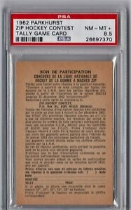 1962 Parkhurst Zip Hockey Contest Tally Game Card PSA 8.5 P690