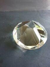 Diamond Cut Crystal Paperweight