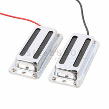 2PCS Chrome Mini Humbucker Bridge Neck Pickup for LP Guitar LP008