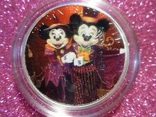 """2019 Silver Eagle Colorized all new """"Happy Halloween"""" MICKEY AND MINNIE 1 of 10"""