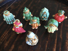 Lucy & Me Enesco Bear Figurine Vegetable Costumes Collectibles Lot Of 8