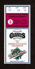 1989 WORLD SERIES GAME 3 TICKET STUB OAKLAND vs SAN FRANCISCO EARTHQUAKE GAME