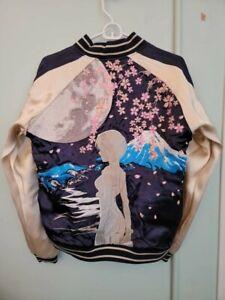 Evangelion -EVA GLOBAL Reversible Sukajan Jacket (DRAGON X CHERRY BLOSSOM) M