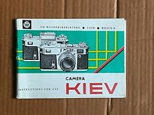 Kiev  35mm Camera Instructions.