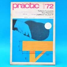 DDR practic 1/1972 Tischtennisplatte MZ 150 Stereoverstärker Belichtungsuhr A