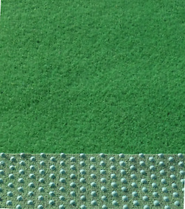 Kunstrasen Rasenteppich Balkon Terrasse Läufer mit Noppen 100 cm Breite grün