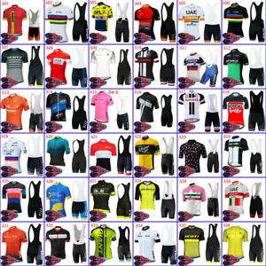 New Cycling Jersey Bibs Shorts Men's Riding Race Shirt Maillots Tights Set Kits