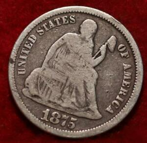 1875 Philadelphia Mint Silver Seated Liberty Half Dime