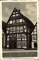 Bad Salzuflen AK ~1920/30 Giebelhaus Fachwerkhaus Haus Lange Straße Wohnhaus