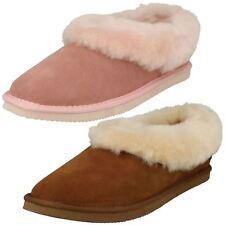 Ladies Padders Fur Trim Slippers Cuddle