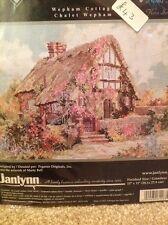 Janlynn cross stitch kit, platinum collection cottage réduit