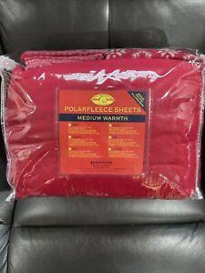 Berkshire Polarfleece Sheet Set Medium Warmth Queen Berry + 2 Bonus Pillow Cases