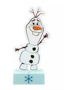 Disney Frozen Olaf Snow man Childrens Kids Bedroom LED Night Light. Table Lamp