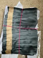$1150 NEW Ann Gish Neiman Monaco Knife Pleat 100% Silk QUEEN Bedskirt Steel Sand