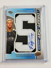 2019-20 Upper Deck SP Game Used Draft Day Marks Patch Auto /10 Patric Hornqvist