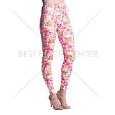 Womens Active Dance Gym High Waist Stretchy Print Leggings Jeggings Pencil Pants