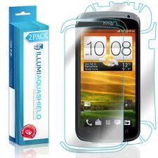 2x iLLumi AquaShield HD Front Screen + Back Panel Protector Shield for HTC One S