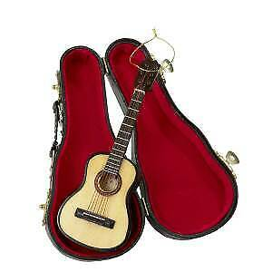 Wooden Pearlized Guitar Ornament w