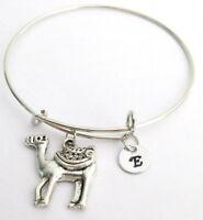 Camel Bracelet Expandable bangle Personalized Charm Monogram Initial Camel brace