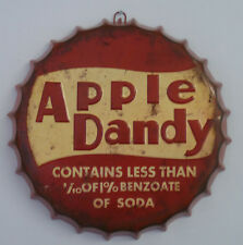 New Big Retro Vintage Apple Dandy Metal Bottle Top Sign Tin Wall Hanging Plaque