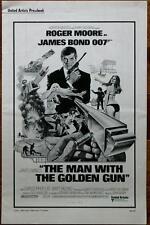 JAMES BOND ROGER MOORE MAN WITH THE GOLDEN GUN ORIG UNCUT U.S. PRESSBOOK