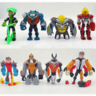 Ben 10 Action Figures Toy 8 PCS Set: Heatblast Four Arms Glitch Cake Toppers