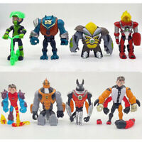 Ben 10 Action Figures Toy 8 PCS Set: Heatblast Four Arms Glitch Cake Toppers
