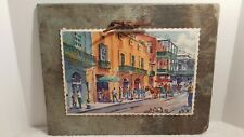 HISTORIC 228 YEARS OLD NEW ORLEANS ROOFING SLATE VIEUX CARRE PRINT JOHN MCCANN