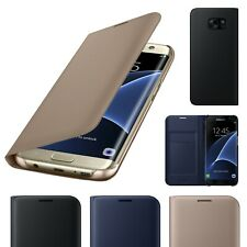 For Samsung Galaxy S7edge Luxury Genuine Real Slim Leather Flip Walet Case Cover