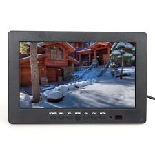 "Portable 7"" TFT LCD Monitor Display VGA AV Audio Video 1024*600 Fr CCTV Security"