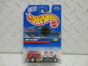 Hot Wheels #994 Rd Way 2 Fast w/Real Riders Trailer Edition