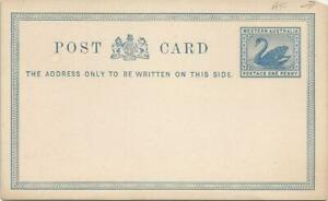 Western Australia  Blue Swan  Postage One Penny   Postal Stationery  / Post Card