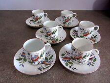 6 tazzine con piattino GIAPPONESI anni 60 70 cup cups coffee japan