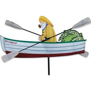"""Fisherman Staked Wind 18"""" Whirligig Wind Spinner..16..... PR 21868"""