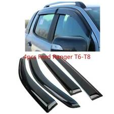 4pcs Ford Ranger T6-T8 Wind Deflectors Rain Shields Double Cab not rust or fade