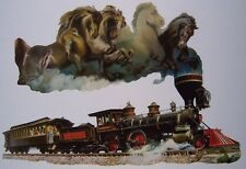 Jigsaw puzzle Train Horse of Iron freeform 1000 piece NEW Made in USA